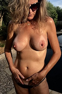Pool fun with Hot 53 yo MILF