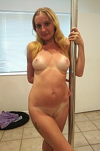 Gf and her stripper pole
