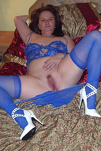 Deb all in blue