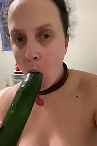 BBW Slave Cleaning Cucumber