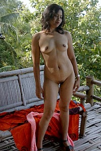 Nudist at Bali