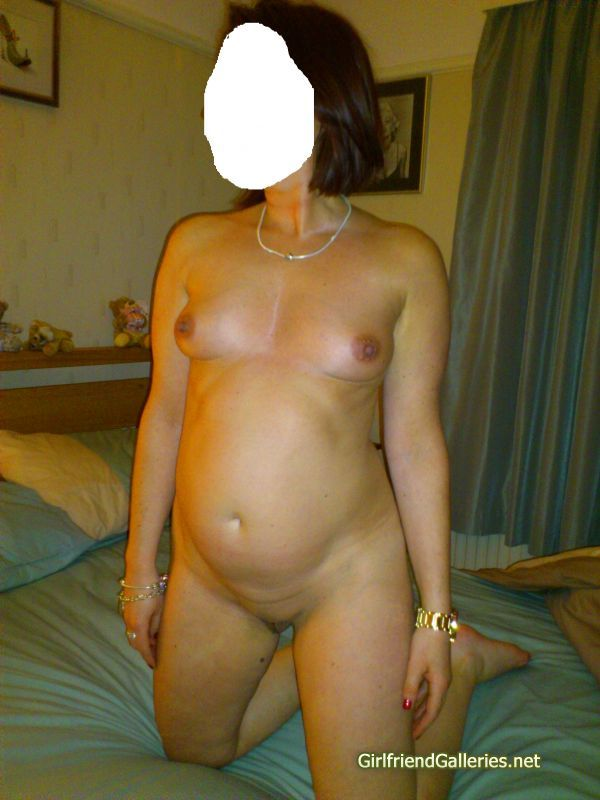 My wife posing
