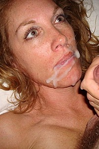 slut milf blonde suck and cum