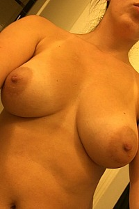 Perfect tits with big puffy nipples