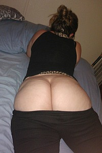Wife's big white ass