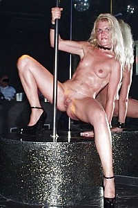 Coco slutty show in a nightclub