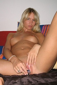hot blonde undressing
