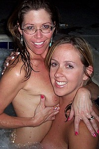 Big boob Alil and friend