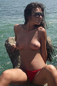 Alicia Naked on the Beach