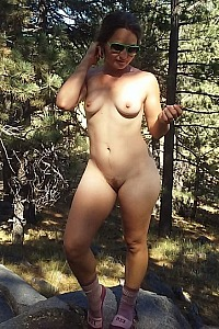 Wife outside