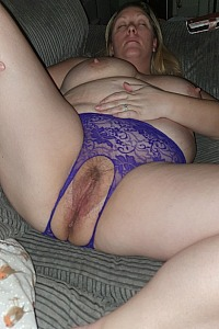 Crotchless pussy pics