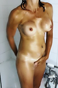 Hot wife in shower