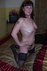Slut wife Deb in and out of PVC