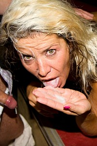 Milf slute wife blonde fuck in public porn cinema 4