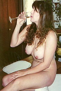 Crystal with a drink