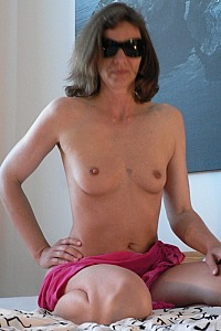 Bettina from Hannover posing