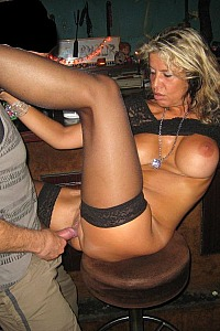 Public bar dogging sex