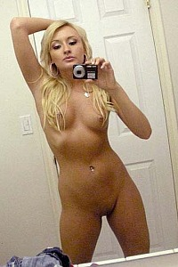 Blonde slut show off