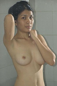 Nueng shows her goods