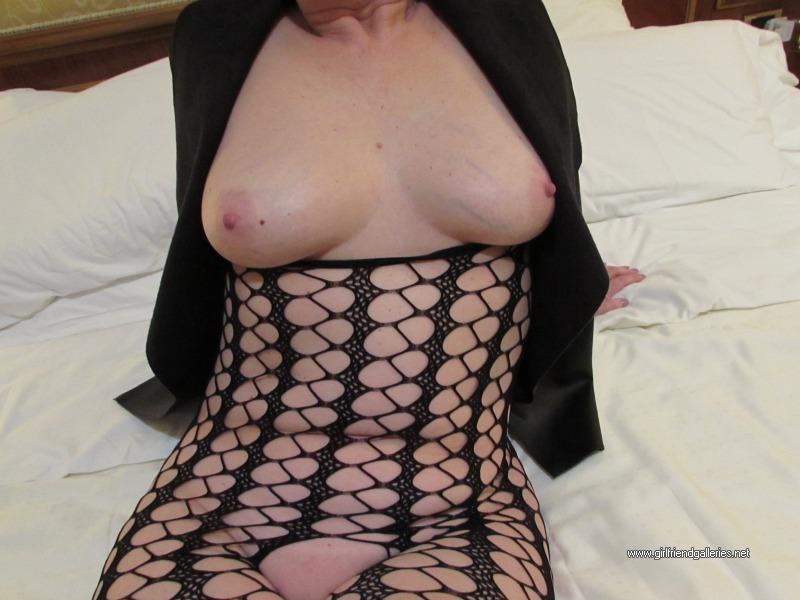 Lizzie in a new body stocking