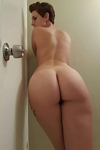 Showing her sexy ass for all to see